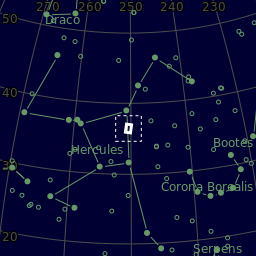 The area of the sky in Hercules