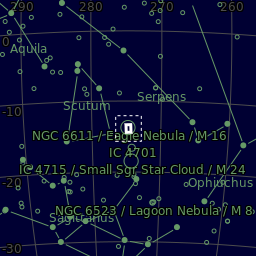 The area of the sky in Serpens
