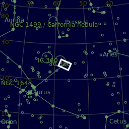 The area of the sky that is photographed