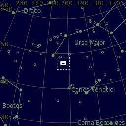 The area of the sky in Canes Venatici