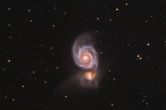 Messier 51, The Whilrpool Galaxy.