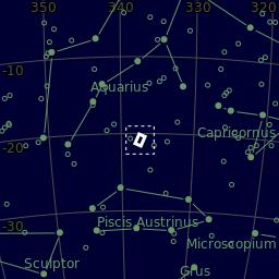 The area of the sky in Aquarius